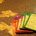 a shot of some components of the paper prototype