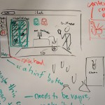 a shot of the whiteboard during iteration time