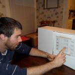 a user testing the fridginator5000 prototype