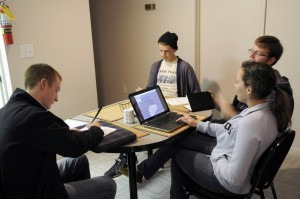 Usability testing the foodmunity site with powerpoint