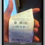 scanning receipt