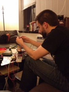 Jeremy White working on the Arduino
